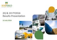 2Q & 1H FY2016 Results Presentation