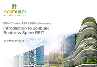 DBSV Thailand ETF & REITs Conference - Introduction to Soilbuild Business Space REIT